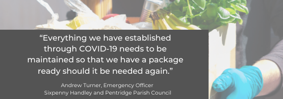 "Quote from Andrew Turner, Emergency Officer: ""Everything we have established through COVID-19 needs to be maintained so that we have a package ready should it be needed again."""